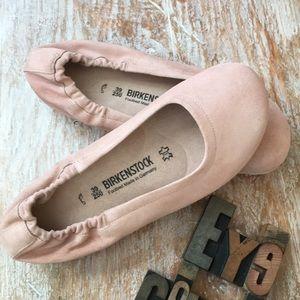 11203ae43f6b Birkenstock Shoes - BIRKENSTOCK  Celina  Suede Ballet Flats In Pink